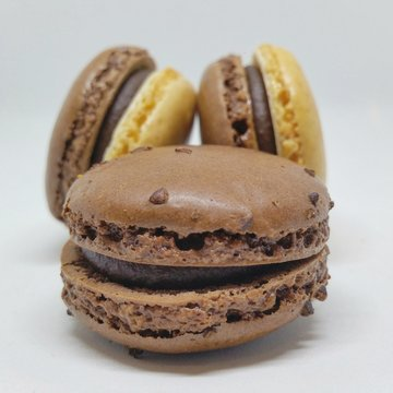 Close-up Of Macroons Against White Background
