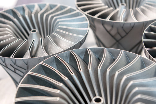 Metal products made by metal 3D printing.
