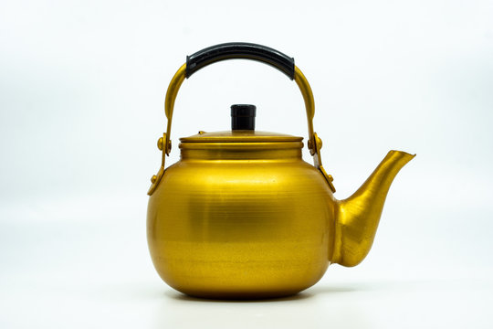 Close-up Of Kettle On White Background
