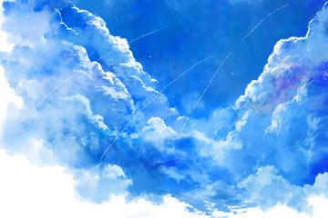 Foto auf Leinwand Himmelblau 青空