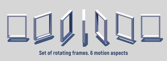 Isometric rectangular frame rotating