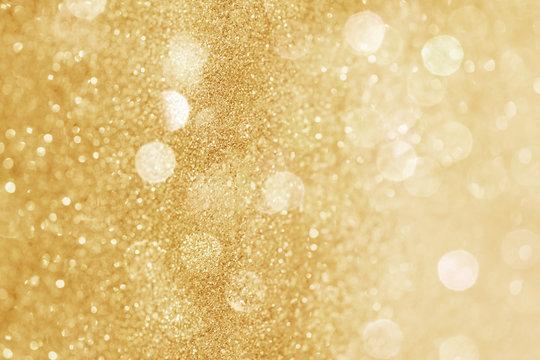 Glittery gold bokeh patterned background illustration