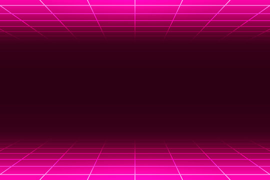 Neon pink grid patterned background