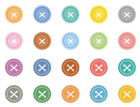 ボタンアイコン(クロス糸入り)