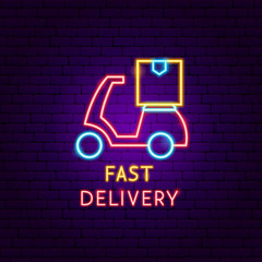 Fast Delivery Scooter Neon Label