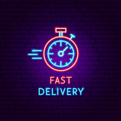 Fast Delivery Neon Label