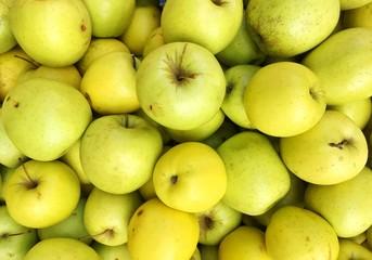 Full Frame Shot Of Granny Smith Apples For Sale