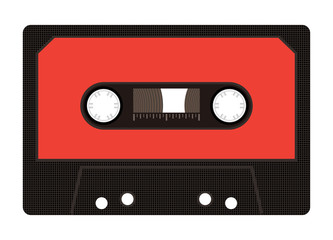 Audio cassette from 80s isolated