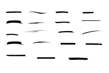 Black Underline Collection Set Vector. isolated on a white background EPS Vector.