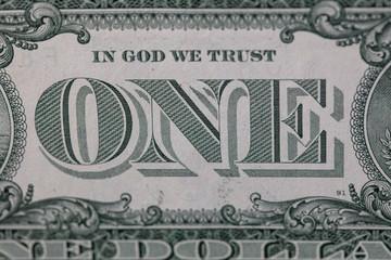 Printed roller blinds Imagination Closeup of back side of 1 dollar bill