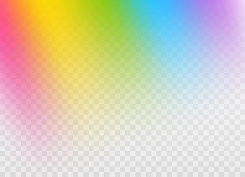 Rainbow gradient design element on transparent background
