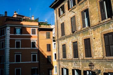 Foto op Canvas Artistiek mon. View of historical building in the streets of Rome