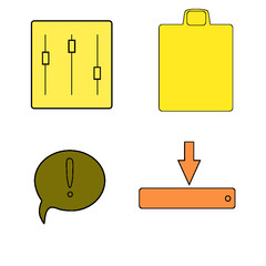 vector illustration of a set of icons with arrows