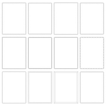 A collection of 8.5 x 11 frames