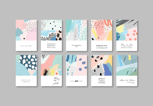 Set of Abstract Posters Layouts