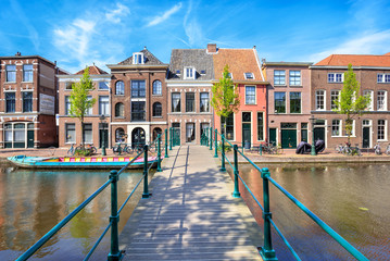 Cityscape of Leiden, The Netherlands