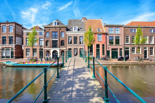 Cityscape of Leiden, The Netherlands