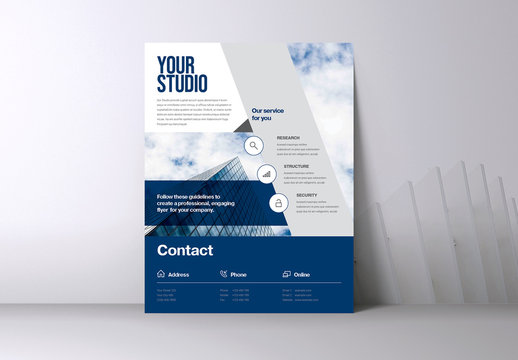 Blue Business Flyer Layout