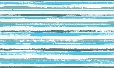 Watercolor hand drawn grunge stripes vector seamless pattern. Beautiful bedding textile print