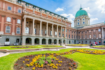 Royal palace of Buda in spring, Budapest, Hungary