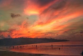 Foto auf Gartenposter Koralle Scenic View Of Landscape Against Cloudy Sky