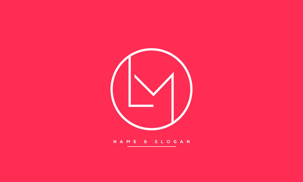 ML ,LM ,M ,L  letters abstract logo monogram