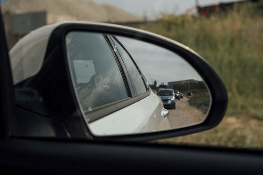 side view mirror in the car