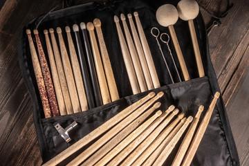 Drumsticktasche mit Sticks