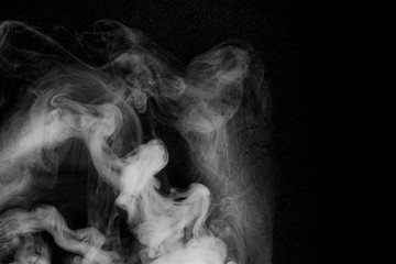 Wall Murals Smoke white smoke on a black background abstraction