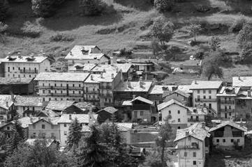 The village of Crépin, Valtournenche, Aosta Valley