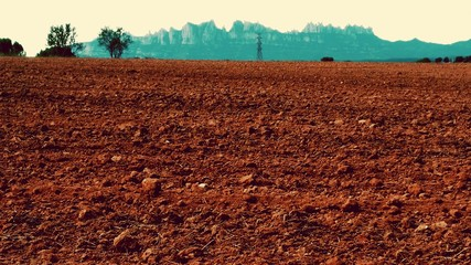Fototapeten Violett rot Scenic View Of Landscape