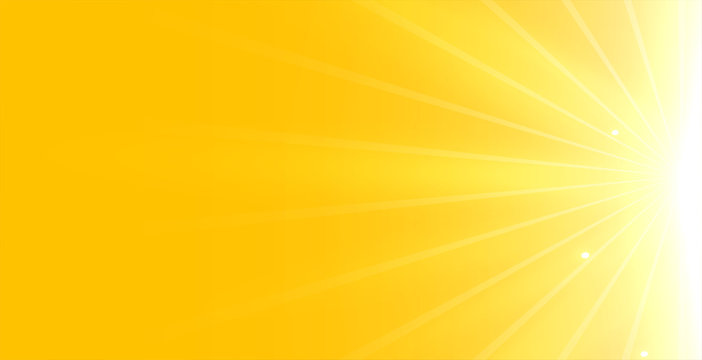 bright yellow background with glowing rays light