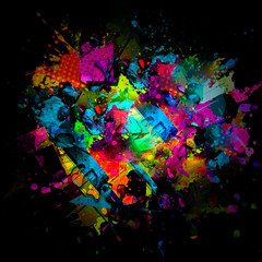 abstract colorful background with splashes