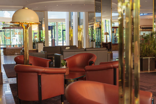 BONN / GERMANY - MAY 08,2020: a seating corner in the reception area of ​​a Maritim hotel