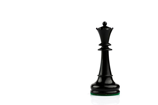 Single black chess piece on white background