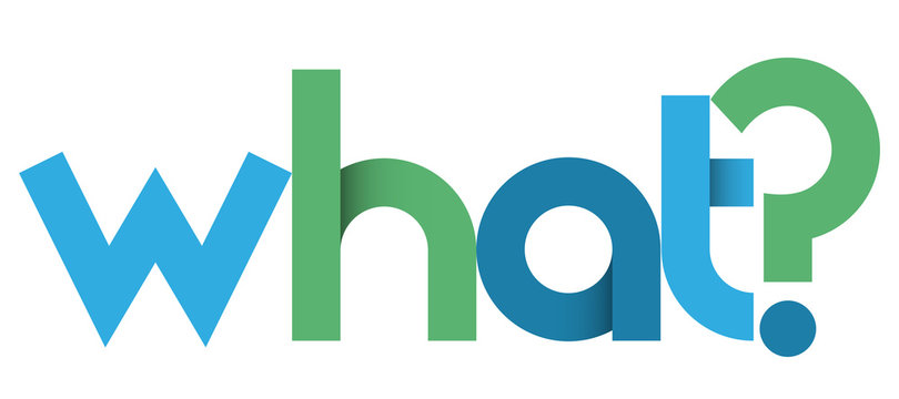 WHAT? blue and green vector geometric type banner
