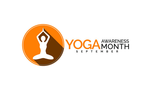 Vector illustration on the theme of National  Yoga awareness month observed each year during September.