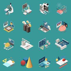 STEM Education Concept Icons