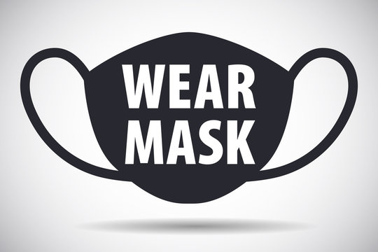Wear face mask request sign