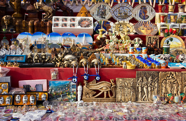Egyptian Souvenirs For Sale At Market