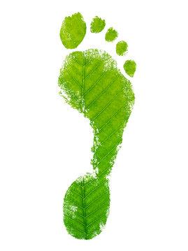 Ecological footprint concept leaf logo design