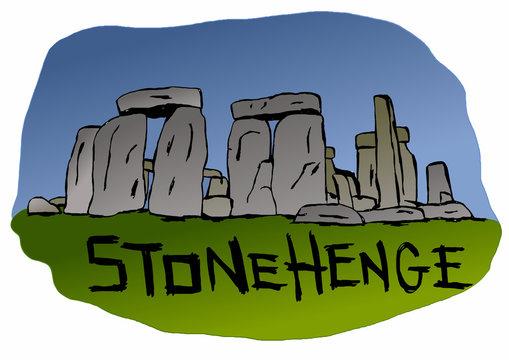 Stonehenge standing stones in England