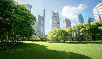 Fotomurales - Green Space, Lujiazui Central, Shanghai, China