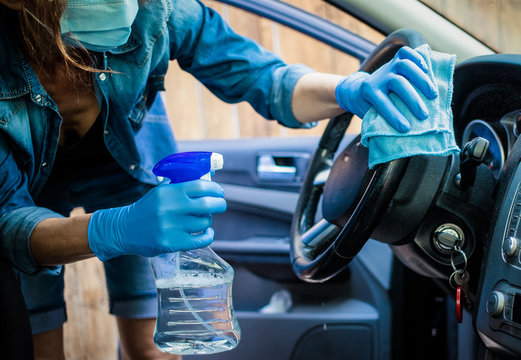 sanitizing car interior covid prevention
