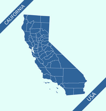 Counties map of California state
