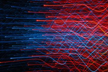 Fotomurales - Full Frame Shot Of Illuminated Light Trails