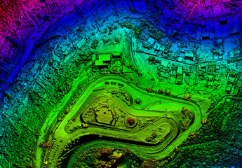 high resolution orthorectified111 orthorectification aerial map used for photogrammetry