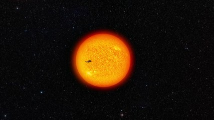 Wall Mural - International Space Station Passing In Front of the Sun.