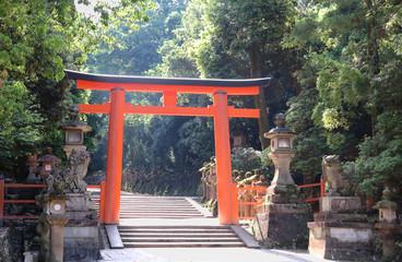 Japanese Shinto shrine red torii gate (from Kasuga-taisha, Nara - World Heritage
