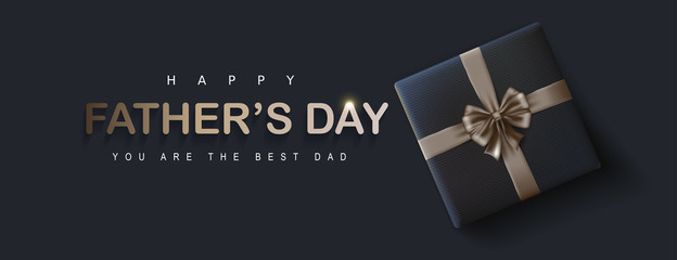 Fototapete - Happy Fathers Day greeting card background. Vector illustration.